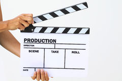 Blank movie clapper board Royalty Free Stock Image