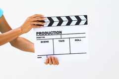 Blank movie clapper board Stock Photography