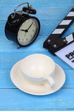 Blank movie clapper board Royalty Free Stock Photos