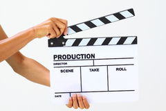 Blank movie clapper board Stock Image