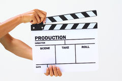 Blank movie clapper board Stock Images