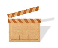 Blank Movie Clapper Boards from Cardboard Stock Image