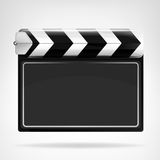 Blank movie flap object  isolated. On white vector background Stock Image