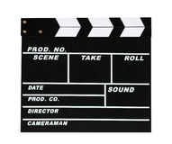Blank movie production clapper board Stock Image