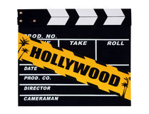 Blank movie production clapper board Stock Photography