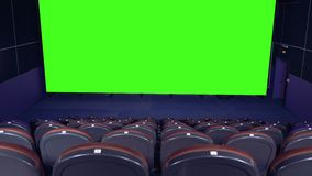 Blank Movie Theater Screen With Green Screen Background In Empty Cinema Hall Stock Video Video Of Advert Movie 111763153