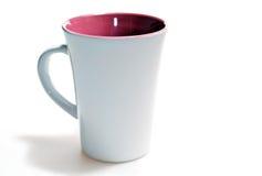 Blank mug. Tall blank mug isolated on white background Royalty Free Stock Image