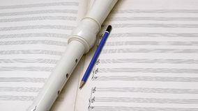 Blank Music Composition Sheet Royalty Free Stock Photos