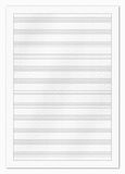 Blank music paper Royalty Free Stock Photos
