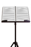 Blank music sheet on stand Stock Photo