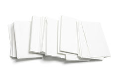 Blank Name Cards Stock Image