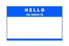Blank name tag Royalty Free Stock Image