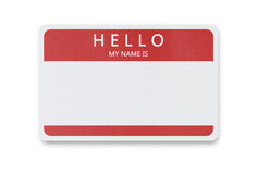 Blank name tag with copy space