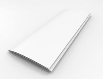 Blank narrow catalog or brochure Stock Photography