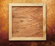 Blank new square wooden frame Stock Images