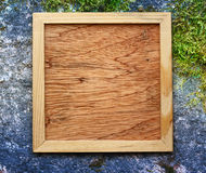 Blank new square wooden frame Stock Photography