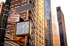 Blank New York street sign Royalty Free Stock Photo