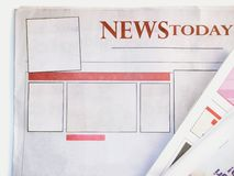 Blank newspaper Royalty Free Stock Image