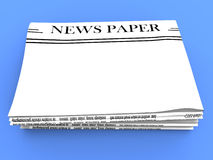 Blank Newspaper With Copy Space Shows News Royalty Free Stock Photo