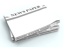 Blank Newspaper With Copyspace Shows News Royalty Free Stock Image