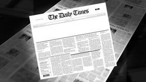 Blank - Newspaper Headline (Intro + Loops) stock video footage