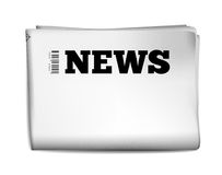 Blank newspaper. With perforated edges and texture on white background. Vector illustration Stock Images