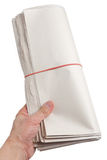 Blank Newspaper Roll Royalty Free Stock Photography