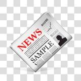 Blank newspaper. Vector illustration Stock Image