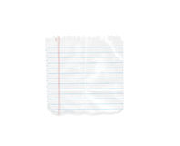 Blank note. Pad isolated on white Stock Photos