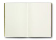 Blank note book, isolated Stock Photo
