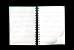 Blank note book Royalty Free Stock Images