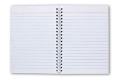 Blank Note Book Isolated On White Background Stock Photos