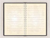 Blank note book open Stock Photo