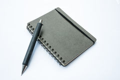 Blank note book with pencil Royalty Free Stock Photos