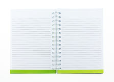 Blank note book with ring binder holes isolated on white Royalty Free Stock Photo