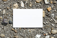 Blank Note Book in Stone Background Stock Image