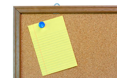 Blank Note on Bulletin Board Royalty Free Stock Photography