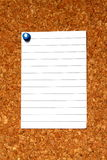 Blank note on cork Stock Photography