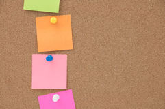 Blank note on cork board Stock Photography