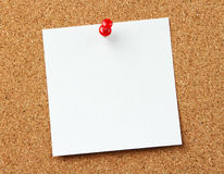 Blank note at the corkboard Royalty Free Stock Photography