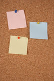 Blank note on corkboard Royalty Free Stock Image