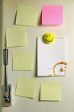 Blank note on fifties fridge door. Copyspace for message Stock Images