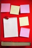 Blank note on fifties fridge door. Copyspace for message Royalty Free Stock Photo