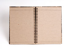 Blank note pad. With single line paper Stock Image