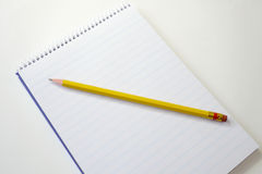 Blank note pad Stock Images