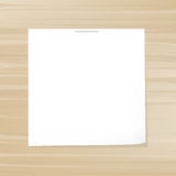 Blank Note Paper Stock Image