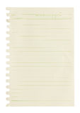 Blank note paper. Royalty Free Stock Image