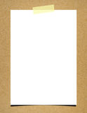 Blank note paper on board background Stock Photography