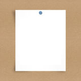 Blank note paper on board background Royalty Free Stock Images