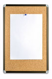 Blank note paper on cork board Royalty Free Stock Photography